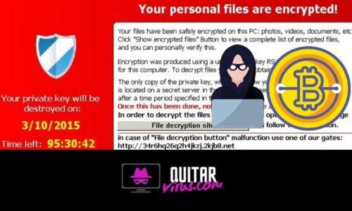quitar el virus cryptolocker