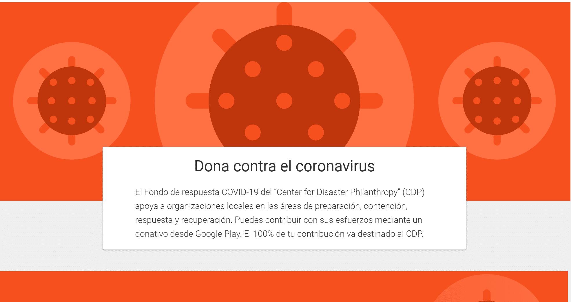 donaciones contra el coronavirus
