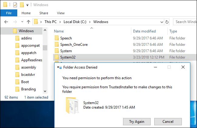 que pasa si borras system32?