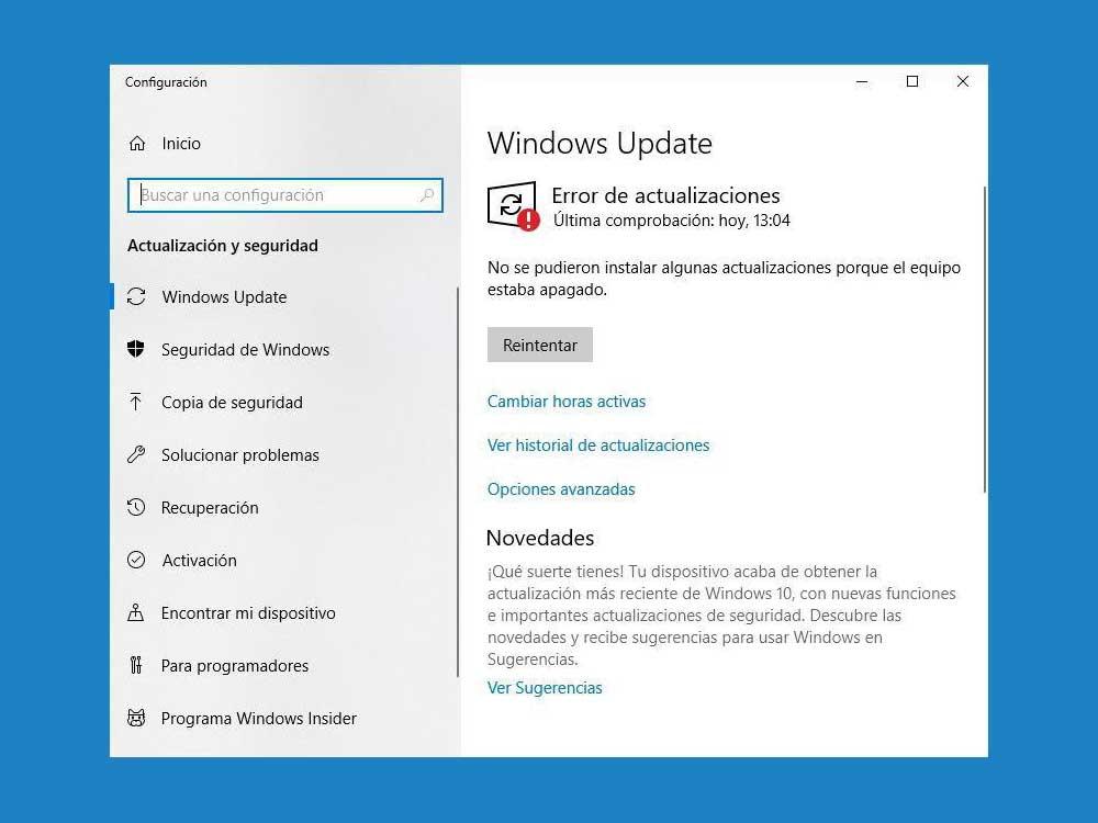 ultima actualizacion windows