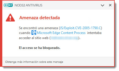 virus detectado con antivirus nod32