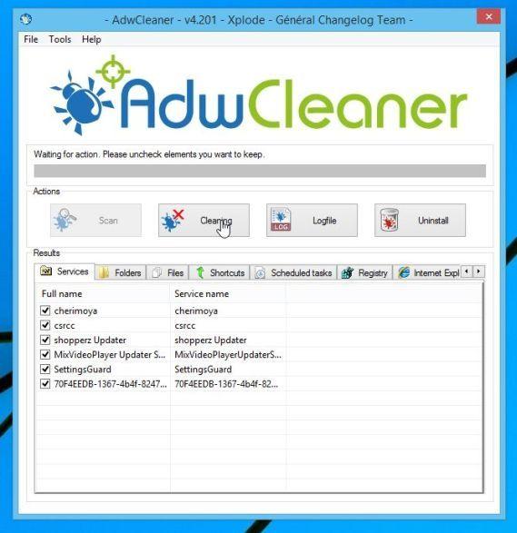 Eliminar los anuncios de Zoomify con AdwCleaner