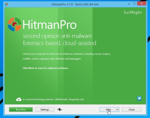 Instalador de HitmanPro