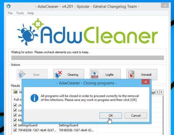AdwCleaner elimina el adware