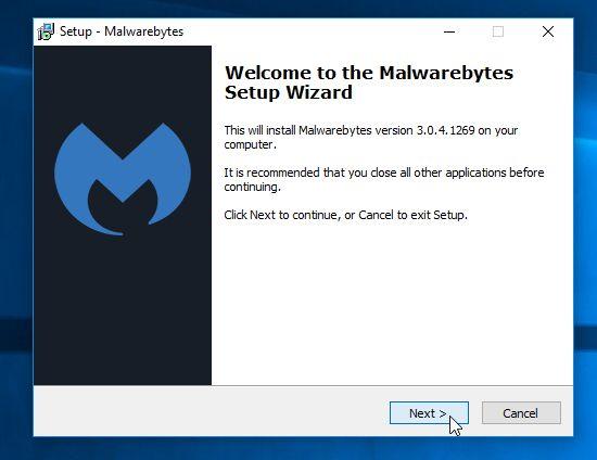 Instalador de Malwarebytes Anti-Malware