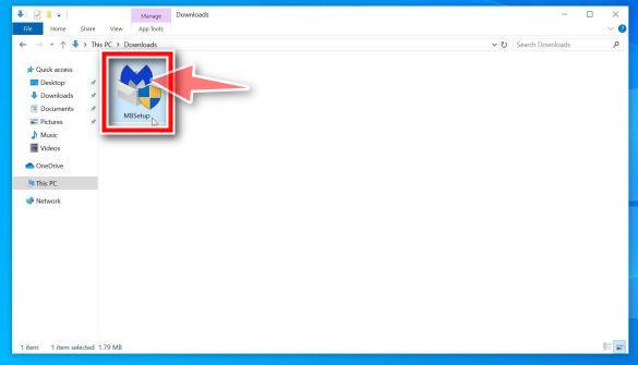 Haga doble clic en MBSetup para instalar Malwarebytes