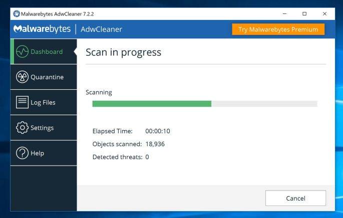 AdwCleaner Virus Scan for Adobe Flash Player está desactualizado