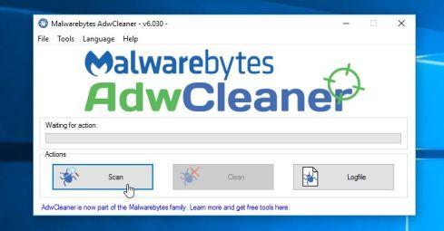 Analiza tu ordenador con Malawarebytes AdwCleaner para eliminar el adware