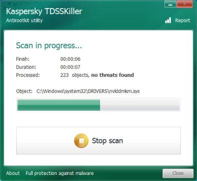 Análisis de Kaspersky TDSSKiller