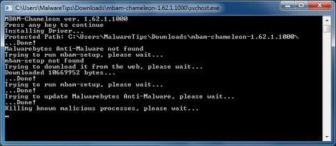 Malwarebytes Chameleon elimina el malware