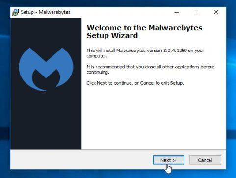 Asistente de instalación de Malwarebytes Anti-Malware
