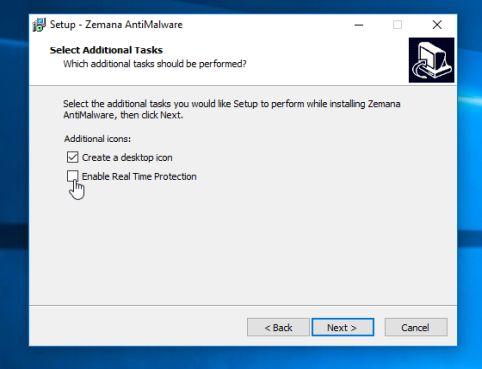 Desactivar la función de protección en tiempo real