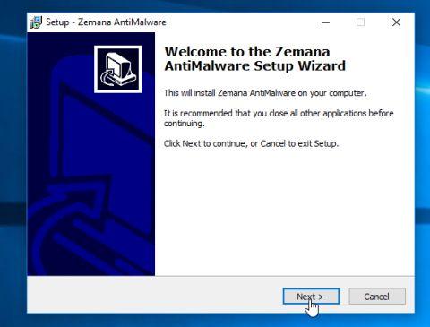 Instalación de Zemana AntiMalware