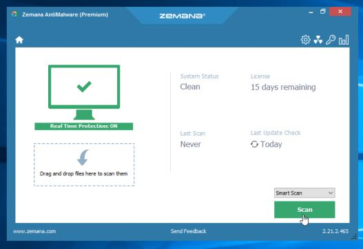 Escanee su ordenador con Zemana AntiMalware