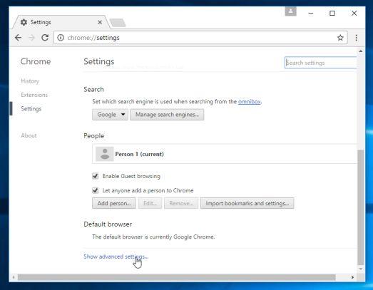 Configuración avanzada de Google Chrome