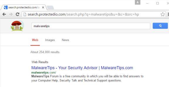 virus search.protectedio.com