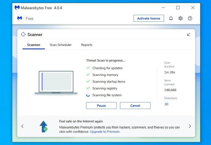 Malwarebytes analiza su PC en busca de malware - Ayuda en línea