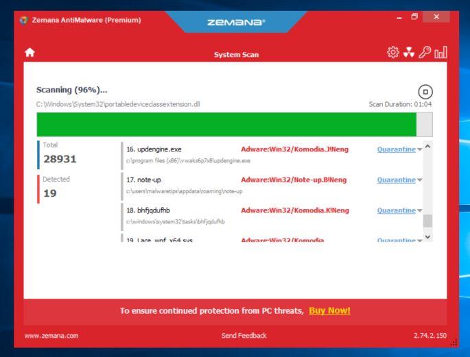 Zemana AntiMalware escanea en busca de malware - Ayuda en línea