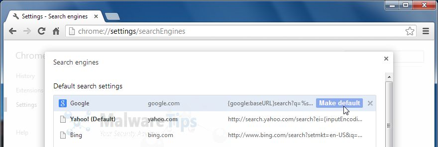 [Image: Yahoo Search in Google Chrome]