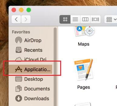 Haga clic en Aplicaciones macOS