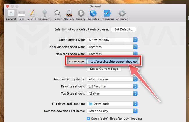 Cambiar la página de inicio en Safari