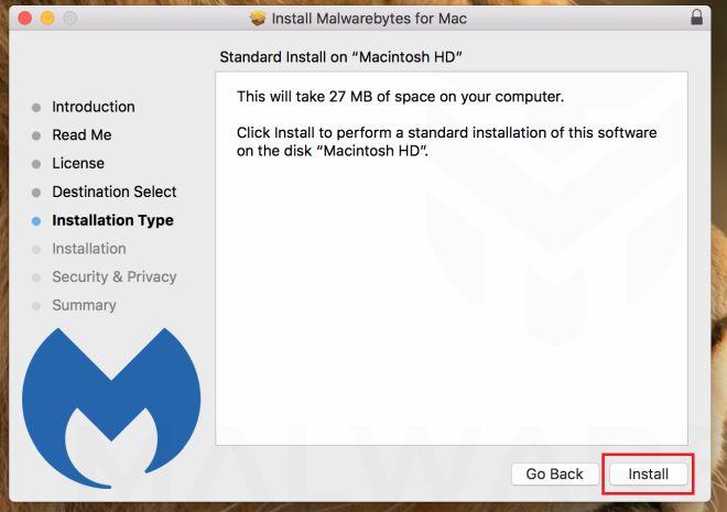 Malwarebytes para Mac - Instalación Parte 3