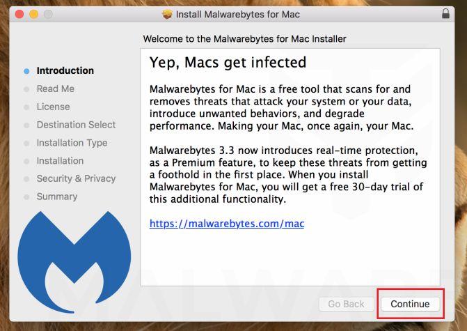 Malwarebytes para Mac - Instalación