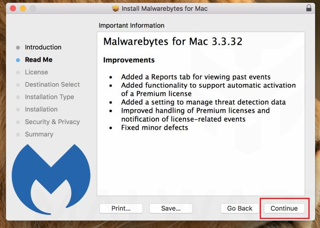 Malwarebytes para Mac - Instalación Parte 2