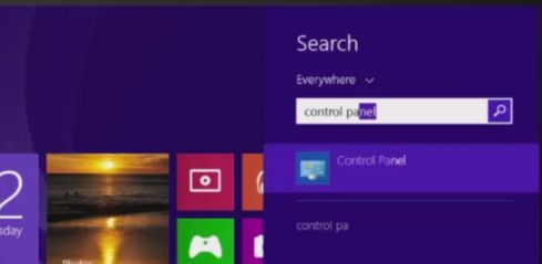 [Image: Control Panel in Windows 8]