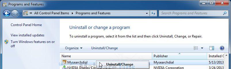 Desinstalar Mysearchdial de Windows Virus