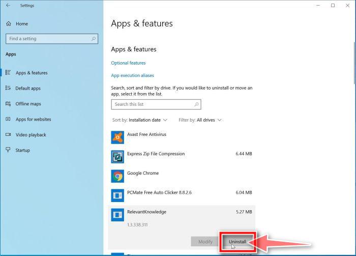 Windows 10: desinstalar programas maliciosos de Windows