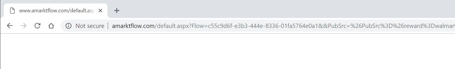 Virus de redirección de Amarktflow.com