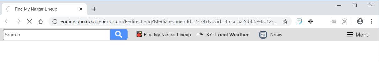 Imagen: El navegador Chrome está siendo redirigido a Doublepimp.com.