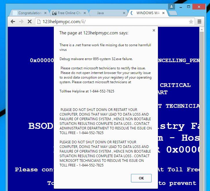 Error de depuración del malware 895-system 32.exe fracaso del virus emergente
